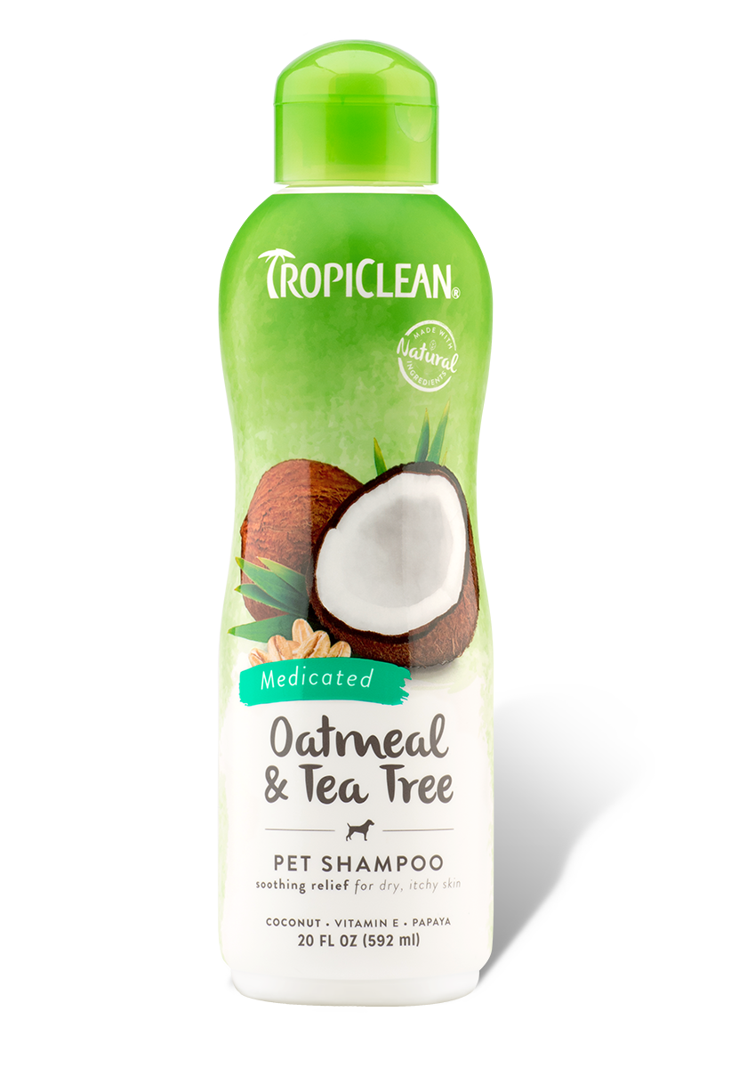 Oatmeal Amp Tea Tree Medicated Dog Shampoo Tropiclean Pet