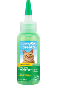 TC FBR Website Image Oral Care Clean Teeth Gel For Cats 2oz Bottle FRONT