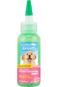 TC FBR Website Image Oral Care Clean Teeth Gel For Puppies 2oz Bottle FRONT