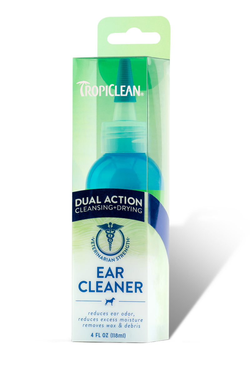 Dual Action Ear Cleaner - TropiClean Pet Products for Dogs and Cats