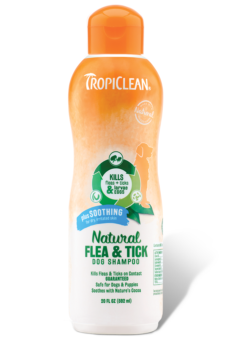 Natural Flea Tick Shampoo Plus Soothing Tropiclean Pet