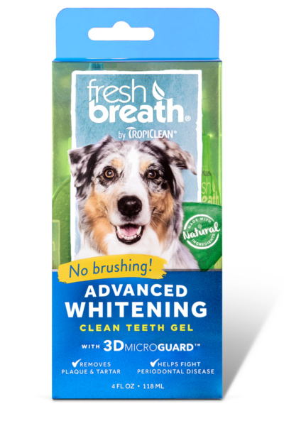 Fresh Breath by TropiClean Advanced Whitening Oral Care Gel for Dogs