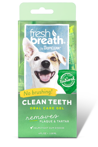 Fresh Breath by TropiClean Oral Care Gel for Dogs
