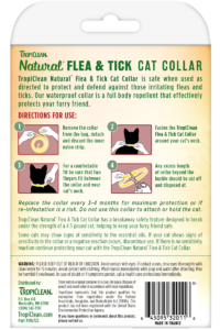 Natural Flea And Tick By Tropiclean Flea And Tick Collar For Cats Back