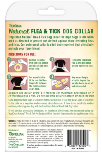 Natural Flea And Tick By Tropiclean Flea And Tick Collar For Large Dogs Back