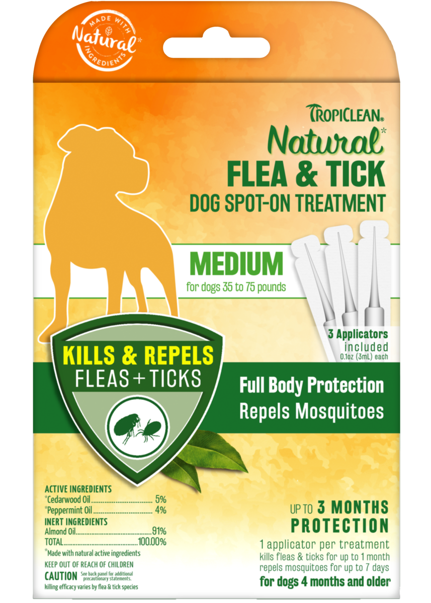 Tropiclean Natural Flea And Tick Spot On Treatment For