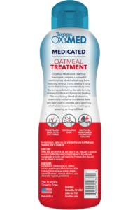 Tropiclean Oxymed Medicated Oatmeal Treatment For Dogs And Cats Back