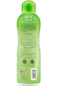 Tropiclean Aloe And Coconut Deodorizing Shampoo For Dogs Back
