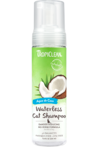 Tropiclean Aqua De Cocoa Dander Reducing No Rinse Waterless Shampoo For Cats