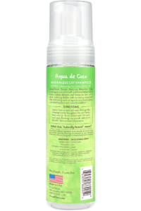 Tropiclean Aqua De Cocoa Dander Reducing No Rinse Waterless Shampoo For Cats Back