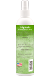 Tropiclean Baby Powder Deodorizing Spray For Dogs And Cats Back