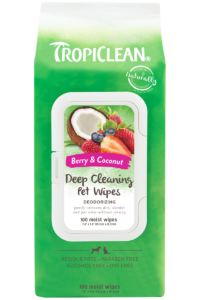 Tropiclean Berry And Coconut Deep Cleaning Deodorizing Wipes For Dogs And Cats