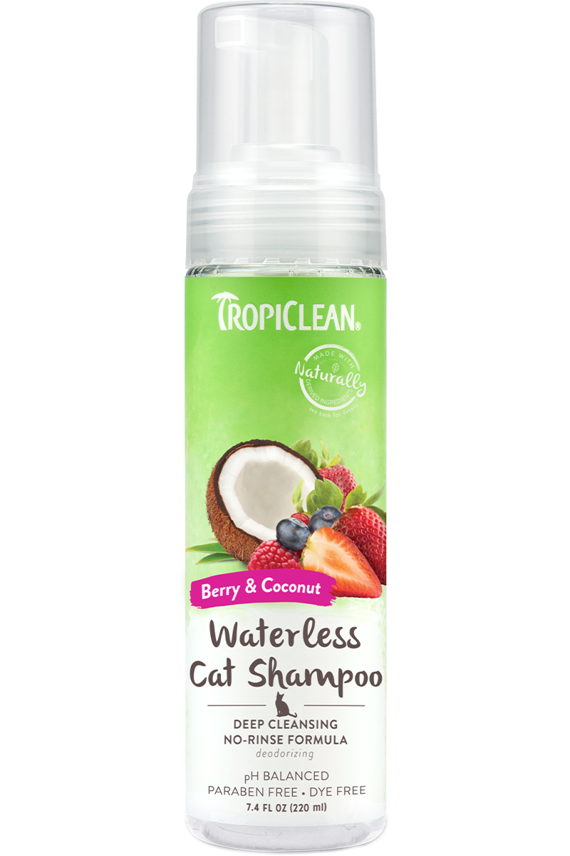 Tropiclean Berry And Coconut Deep Cleaning No Rinse Waterless Shampoo For Cats