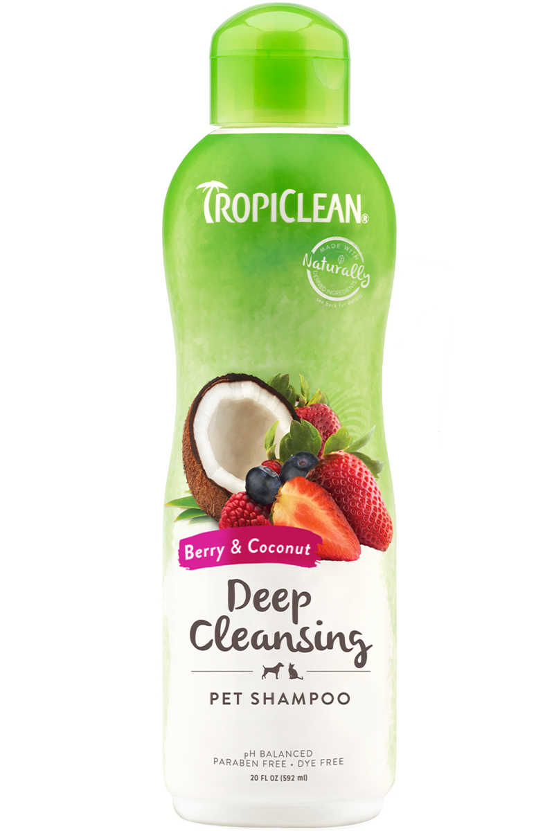 Tropiclean Berry And Coconut Deep Cleaning Shampoo For Dogs