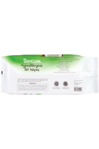 Tropiclean Fragrance Free Hypoallergenic Deodorizing Wipes For Dogs Puppies And Cats Back
