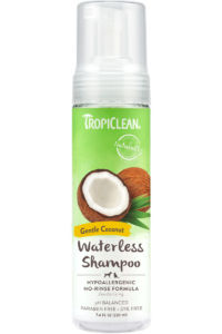 Tropiclean Gentle Coconut Hypoallergenic No Rinse Waterless Shampoo For Dogs Puppies And Cats