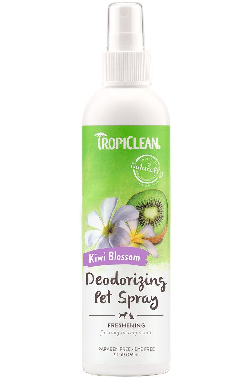 Tropiclean Kiwi Blossom Deodorizing Spray For Dogs And Cats