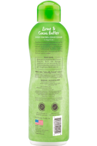Tropiclean Lime And Cocoa Butter Shed Control Conditioner For Dogs And Cats Back