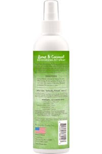 Tropiclean Lime And Coconut Deodorizing Spray For Dogs And Cats Back