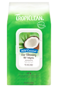 Tropiclean Mild Coconut Ear Cleaning Wipes For Dogs And Cats