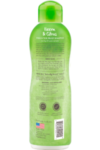 Tropiclean Neem And Citrus Flea And Tick Relief Shampoo For Dogs Back