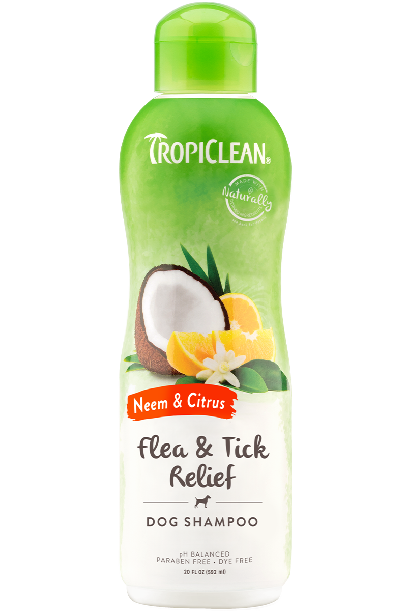 Tropiclean Neem And Citrus Flea And Tick Relief Shampoo For Dogs