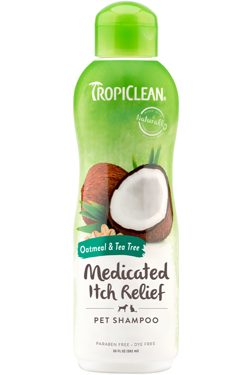 Tropiclean Oatmeal And Tea Tree Medicated Itch Relief Shampoo For Dogs