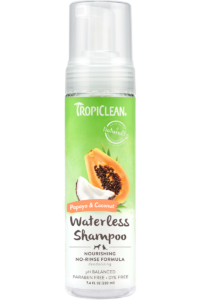Tropiclean Papaya And Coconut Nourishing No Rinse Waterless Shampoo For Dogs And Cats
