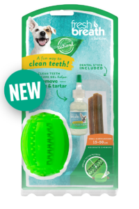 Fresh Breath by TropiClean Clean Teeth Oral Care Fresh 'N Fun™ Dental Chew Toy for Small and Medium Dogs 15-50 lbs. — Helps Remove Plaque & Tartar!