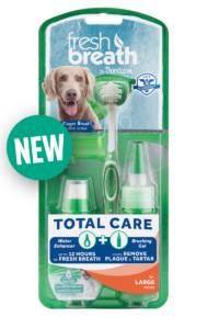 Fresh Breath by TropiClean No Brushing Clean Teeth Dental & Oral Total Care Kit for Large Dogs Fights Plaque & Tartar - Made in U.S.A.