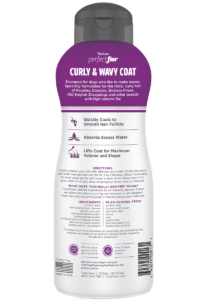 TC PEF Package Photo Curly And Wavy Coat Shampoo 16oz BACK 800×1200